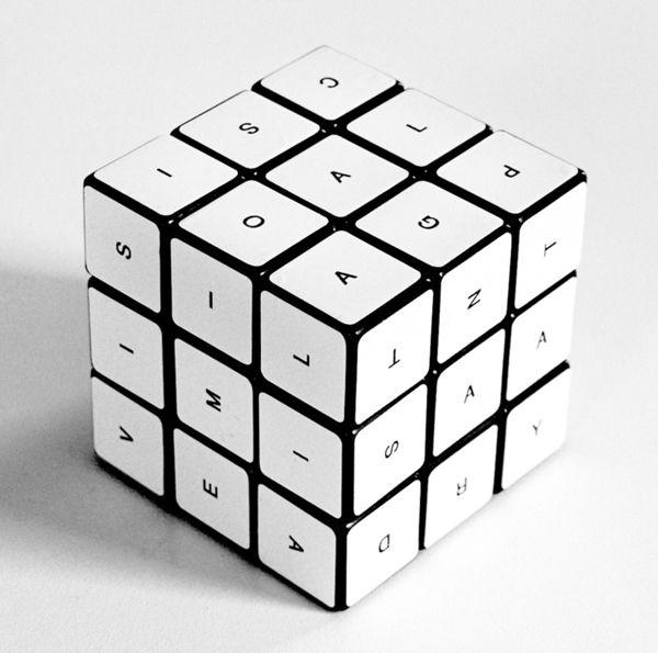 rubiks cube nine letter word puzzle