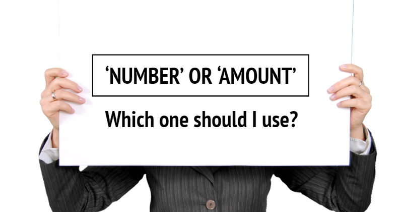 Number or Amount – Which one should I use?