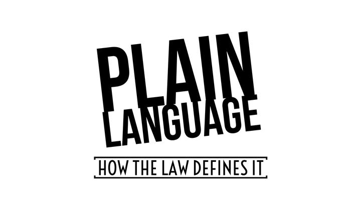 How The Law Defines Plain Language