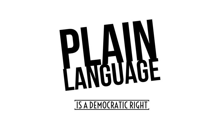 Plain Language Is A Democratic Right