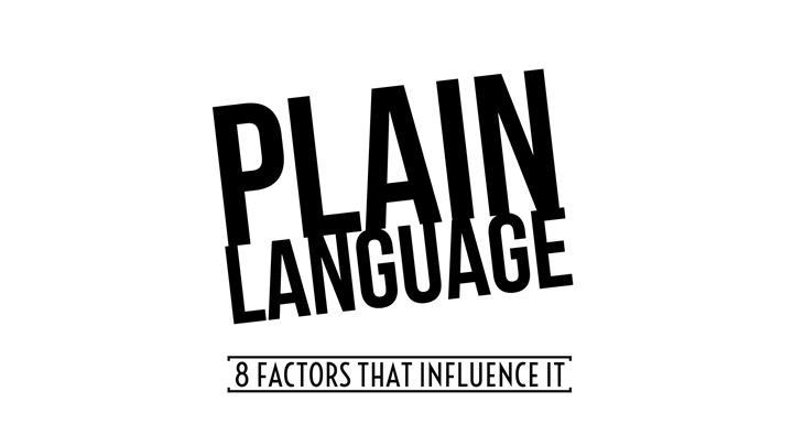 8 Factors That Influence Plain Language