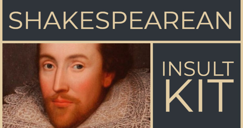 Shakespearean Insult Kit