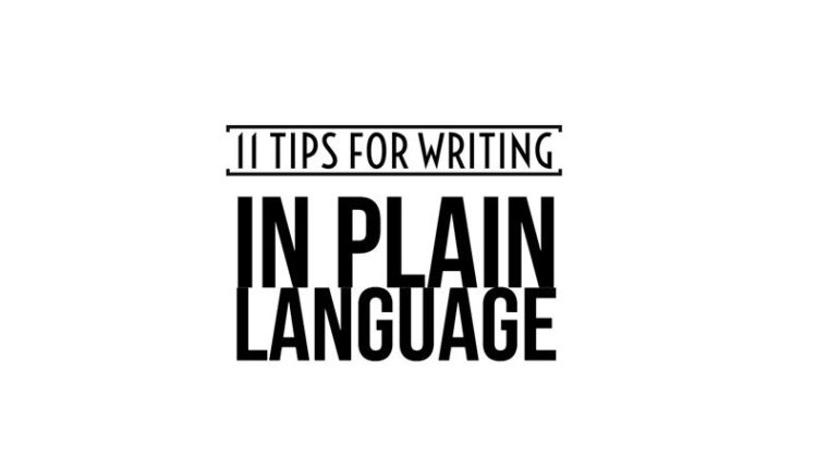 11 tips for writing in plain language