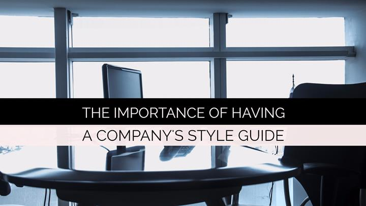 The Importance Of Having A Style Guide