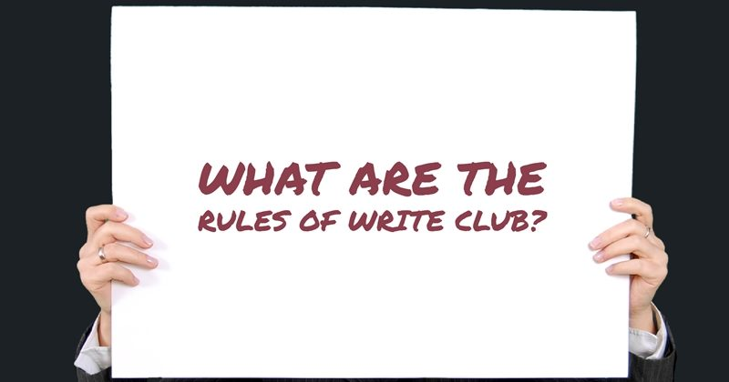 What Are The Rules Of Write Club?