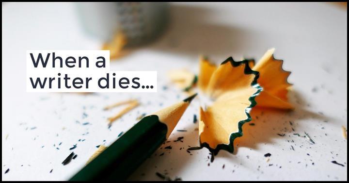 When A Writer Dies
