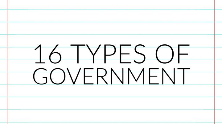 16 Types Of Government