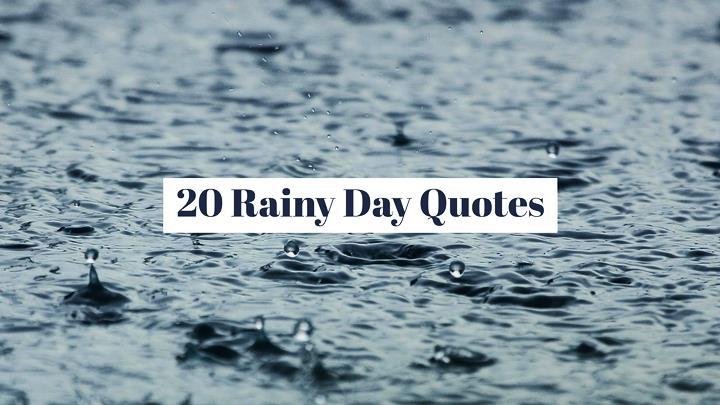 20 Literary Rainy Day Quotes