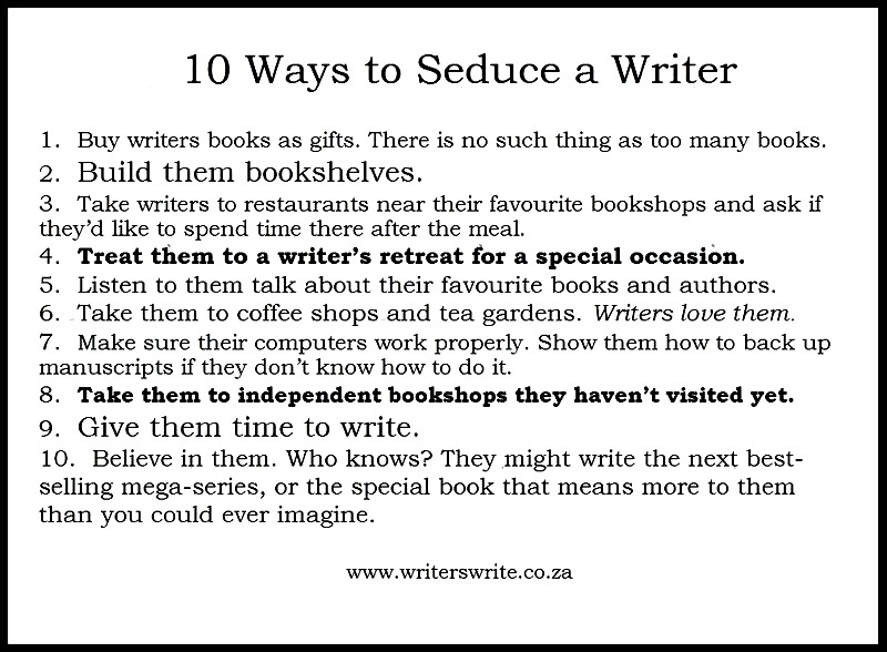 10 Ways To Seduce A Writer