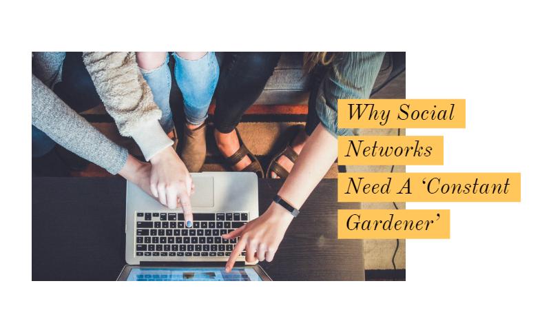 Social Networks Need A 'Constant Gardener'