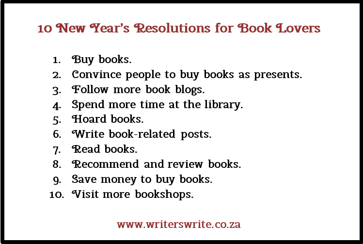 10 New Yearu0027s Resolutions For Book Lovers