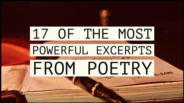 17 Of The Most Powerful Excerpts From Poetry
