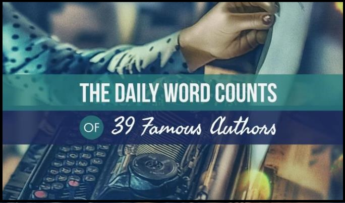 The Daily Word Counts Of 39 Famous Authors