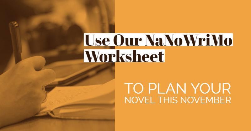 Brainstormer Worksheet To Plan Your Novel