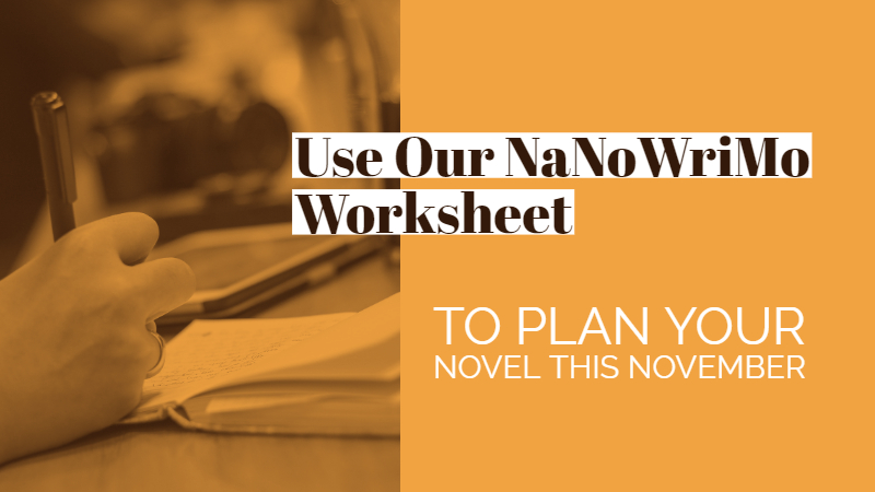 Brainstormer Worksheet To Plan Your Novel