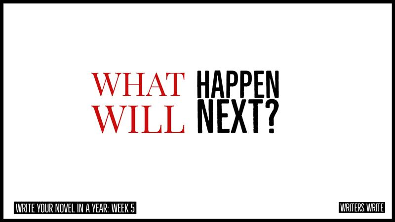 what will happen next when you write your novel?