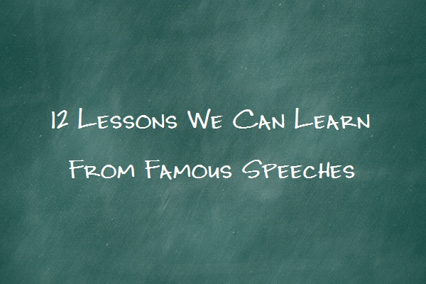 lessons writers can learn from famous speeches