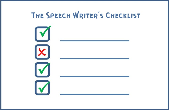 The Speechwriter's Checklist