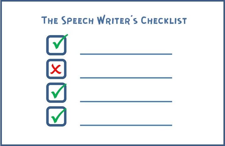 The Speechwriter's Checklist