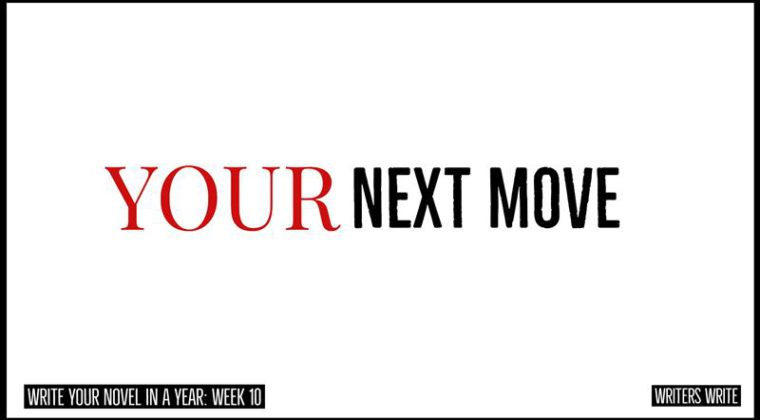 your next move in your novel
