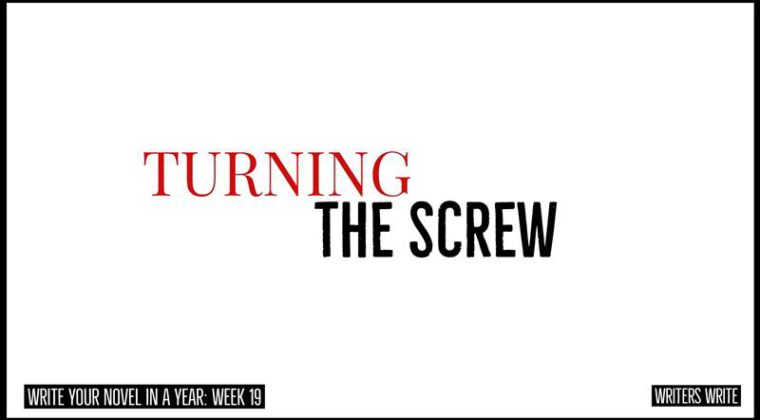 turning the screw to increase the tension in novels