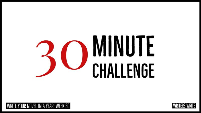 30 Minute Challenges To Help You Write Your Book