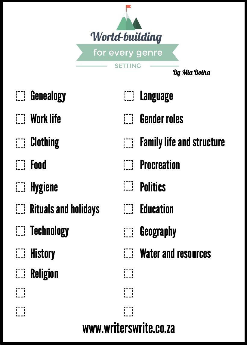 The Ultimate Setting Checklist For WorldBuilding