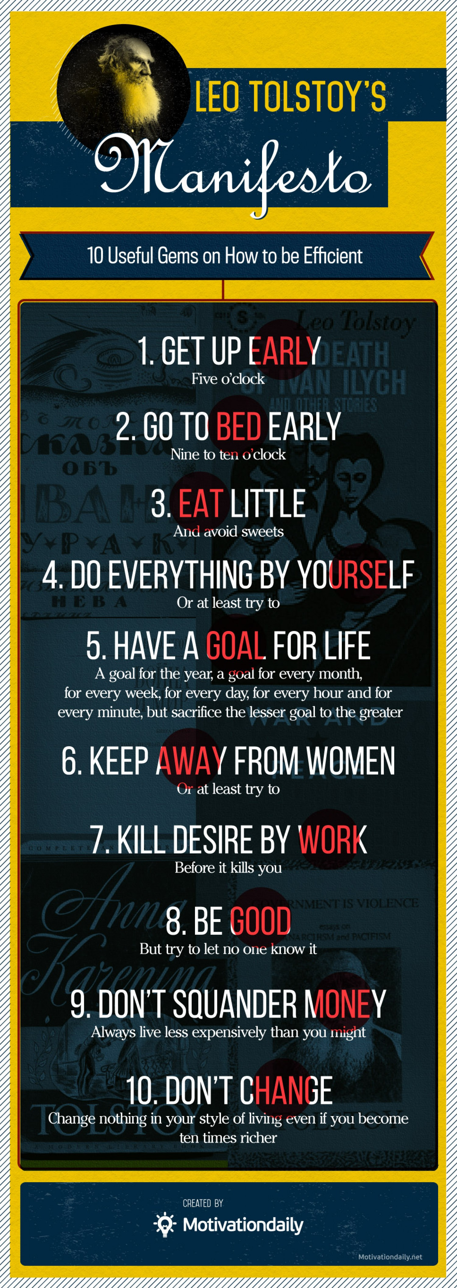 Leo Tolstoy's 10 Rules For Life