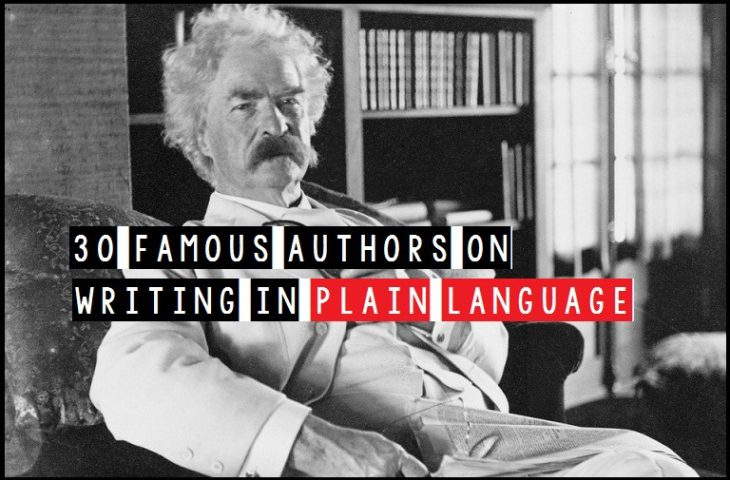30 Famous Authors On Writing In Plain Language