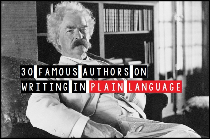 30 Famous Authors On Writing In Plain Language