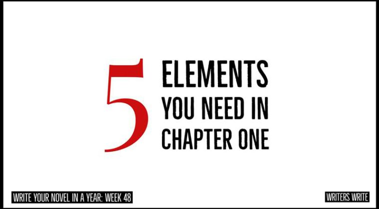 5 Elements You Need In Chapter One To Hook Your Reader