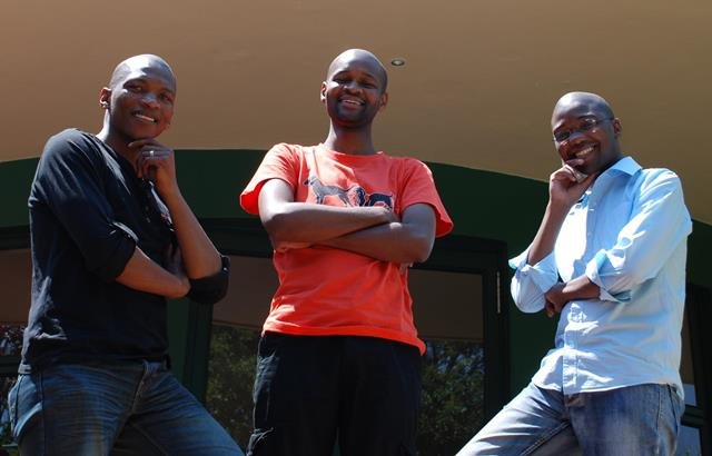 Siphiwo Mahala,Tuelo Gabonewe, and Thando Mgqolozana