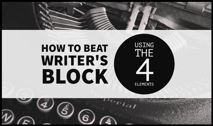Beat Writer's Block With Help From The 4 Elements