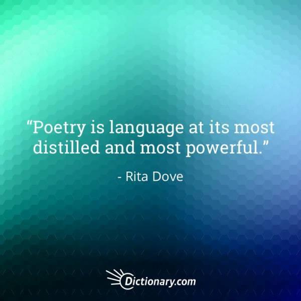 Quotable – Rita Dove