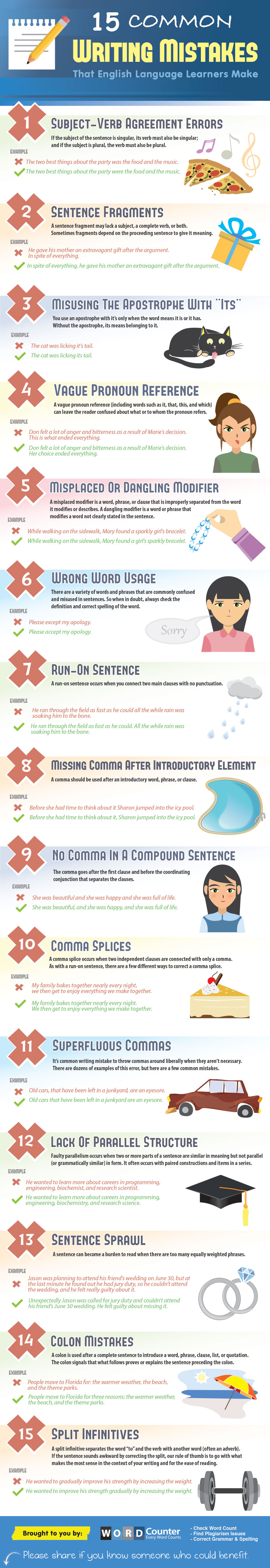 common mistakes that English language learners make