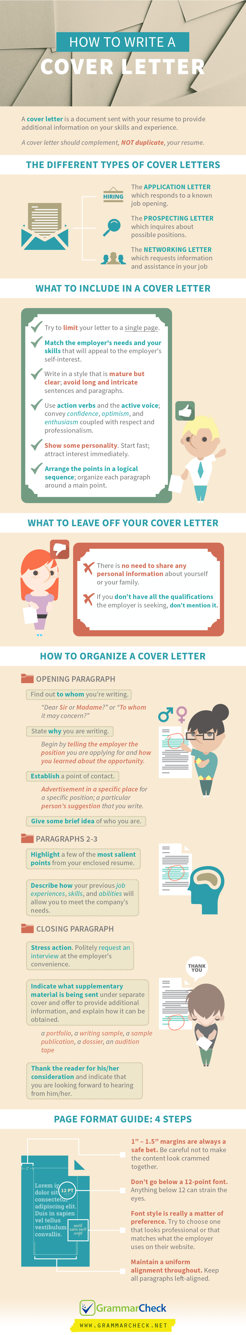 How to write a cover letter step by step writers write for How to writea cover letter