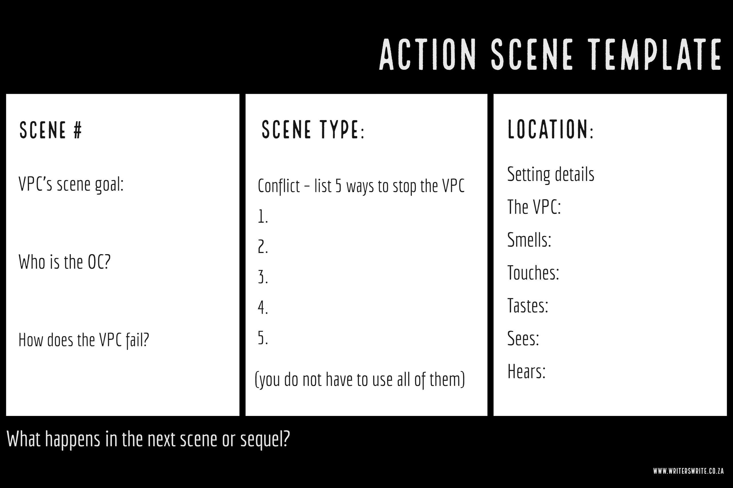 Perfect Action Scene Templates To Help You Plot Your Book