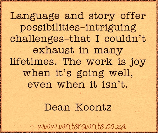 dean koontz on writing