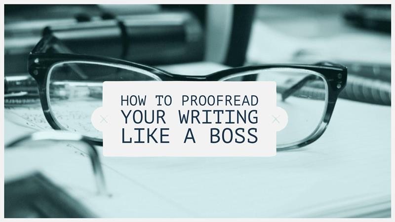 ways to proofread your writing