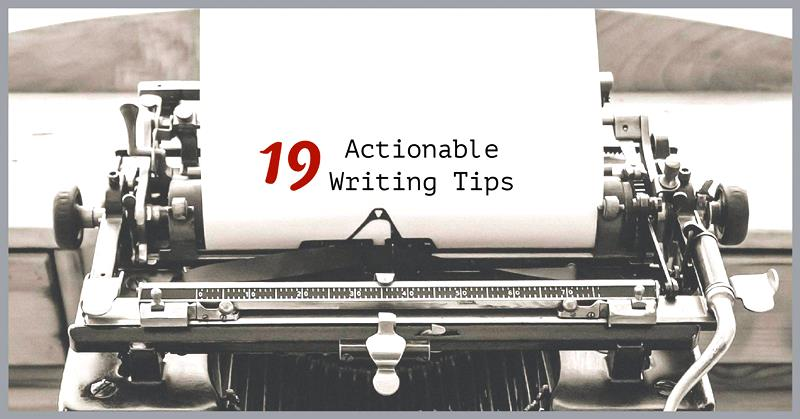Actionable writing tips for business writers