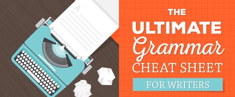 grammar cheat sheet for writers