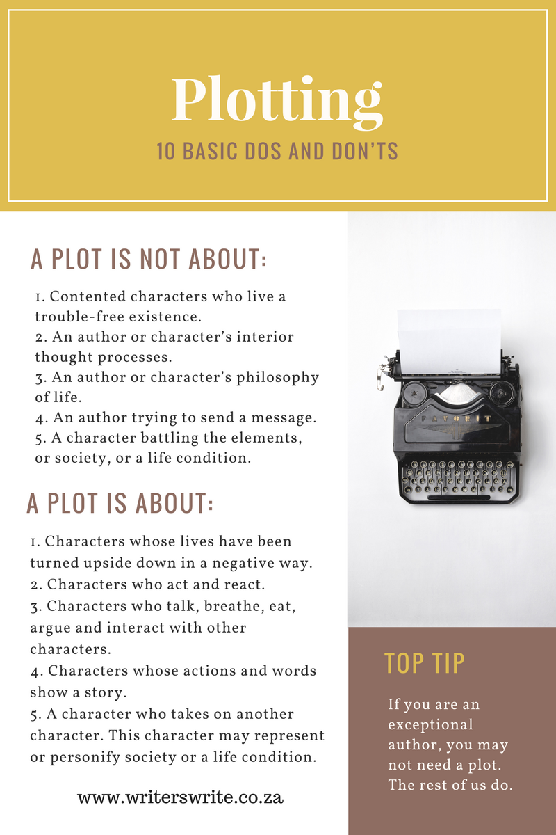 10 Basic Dos And Dont's For Plotting - Infographic