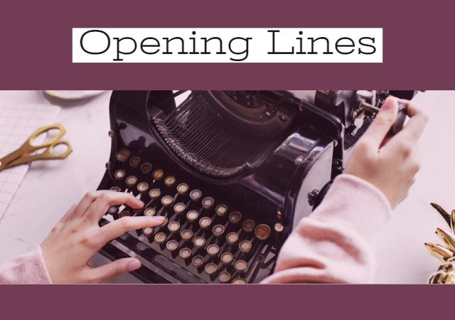 Plot Ideas - Opening Lines