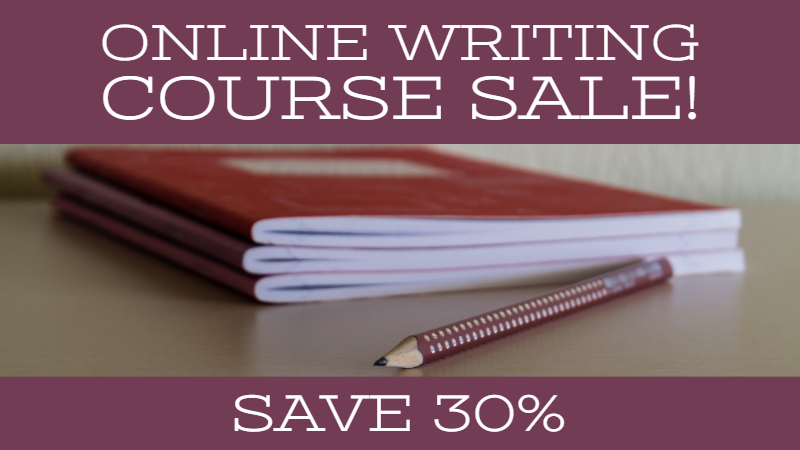 September Online Writing Course Sale