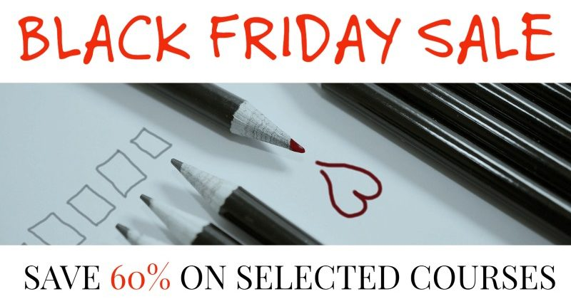 BLACK FRIDAY - Save 60% On Selected Courses