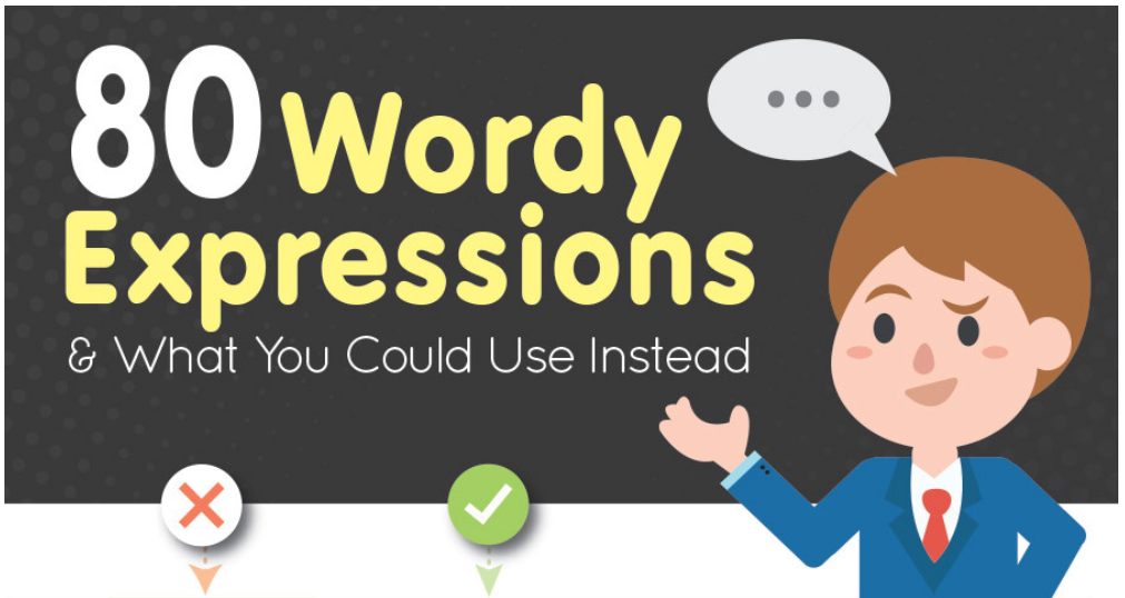 80 Wordy Expressions & What You Could Use Instead